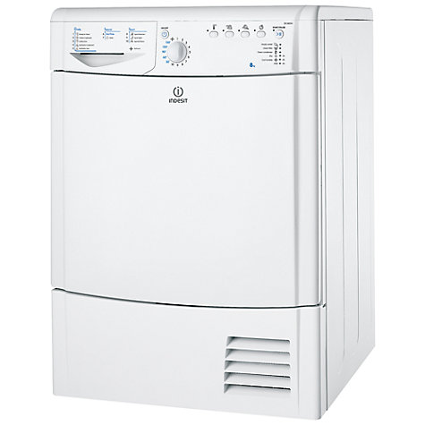 Buy Indesit IDCA8350 Condenser Tumble Dryer, 8kg Load, C Energy Rating, White Online at johnlewis.com