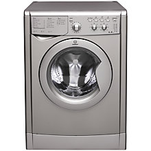 Buy Indesit IWC6145S Washing Machine, 6kg Load, A Energy Rating, 1400rm Spin, Silver Online at johnlewis.com