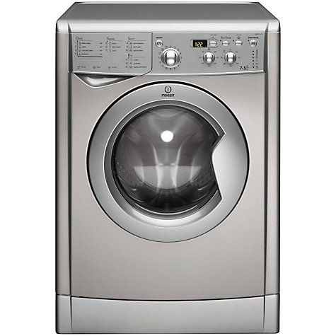 Buy Indesit IWDD7123S Washer Dryer, 7kg Wash/5kg Dry Load, B Energy Rating, 1200rpm Spin, Silver Online at johnlewis.com