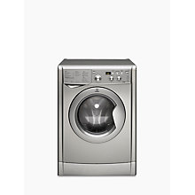 Buy Indesit IWDD7143S Washer Dryer, 7kg Wash/5kg Dry Load, B Energy Rating, 1400rpm Spin, Silver Online at johnlewis.com
