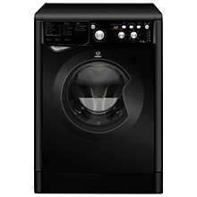 Buy Indesit IWD7145K Washing Machine, 7kg Load, A Energy Rating, 1400rpm Spin, Black Online at johnlewis.com