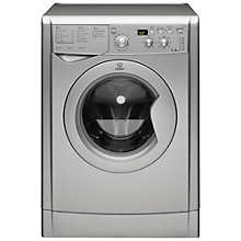 Buy Indesit IWD7145S Washing Machine, 7kg Load, A Energy Rating, 1400rpm Spin, Silver Online at johnlewis.com