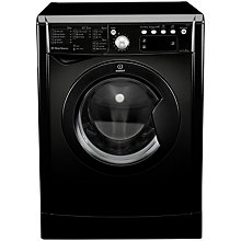 Buy Indesit IWE81281K Washing Machine, 8kg Load, A+ Energy Rating, 1200rpm Spin, Black Online at johnlewis.com