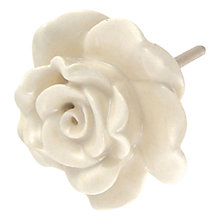 Buy Bombay Duck Vintage Rose Ceramic Cupboard Knob, Dia.55mm Online at johnlewis.com