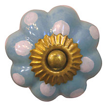 Buy Bombay Duck Spotty Ceramic Flower Cupboard Knob, Dia.45mm Online at johnlewis.com