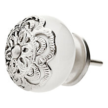 Buy Bombay Duck Henna Cupboard Knob With Filigree, Silver, Dia.35mm Online at johnlewis.com