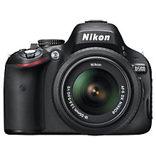 "Buy Nikon D5100 Digital SLR Camera with 18-55mm, 55-200mm & 28-300mm Lens, HD 1080p, 16.2MP, 3x Zoom, 3"" LCD Screen Online at johnlewis.com"