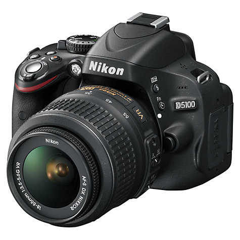 "Buy Nikon D5100 Digital SLR Camera with 18-55mm & 55-200mm VR Lens, HD 1080p, 16.2MP, 3x Zoom, 3"" Screen Online at johnlewis.com"
