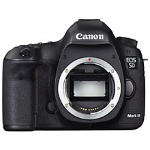"Buy Canon EOS 5D MK III Digital SLR Camera, HD 1080p, 22.3MP, 3.2"" LCD Screen, Body Only with Battery Grip Online at johnlewis.com"
