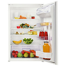 Buy Zanussi ZBA15020SA Integrated Larder Fridge, A+Energy Rating, 54cm Wide, White Online at johnlewis.com