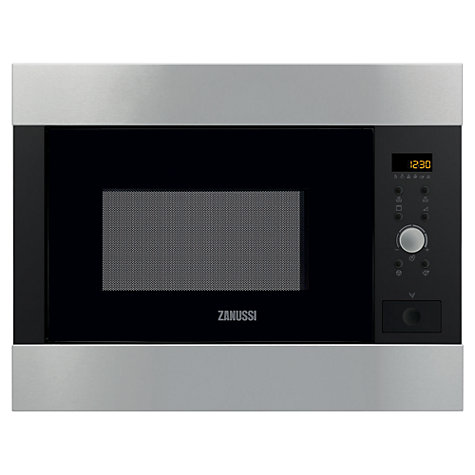 Buy Zanussi ZBG26542XA Built-in Microwave and Grill, Stainless Steel Online at johnlewis.com
