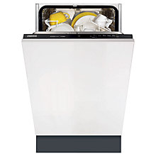 Buy Zanussi ZDV12001FA Slimline Integrated Dishwasher Online at johnlewis.com