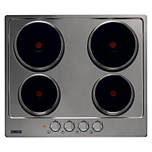 Buy Zanussi ZEE6940FXA, Sealed Plate Electric Hob, 60cm Wide, Stainless Steel Online at johnlewis.com