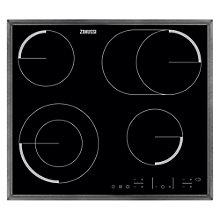 Buy Zanussi ZEV6646XBA Ceramic Hob, Black Glass Online at johnlewis.com