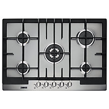 Buy Zanussi ZGG76524XA Gas Hob, Stainless Steel Online at johnlewis.com