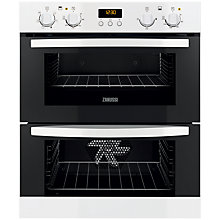 Buy Zanussi ZOF35501WK Double Built-Under Electric Oven, White Online at johnlewis.com