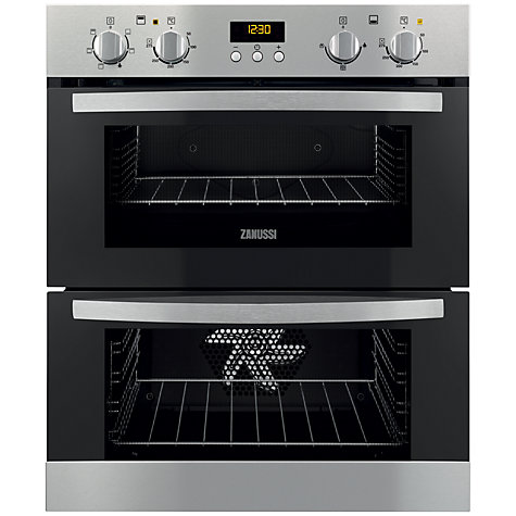 Buy Zanussi ZOF35501XK Double Built-Under Electric Oven, Stainless Steel Online at johnlewis.com