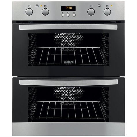 Buy Zanussi ZOF35702XK Under Counter, Double Electric Oven, Stainless Steel Online at johnlewis.com