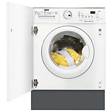 Buy Zanussi ZWT71201WA Integrated Washer Dryer, 7kg Wash/4kg Dry Load, C Energy Rating, 1200rpm Spin Online at johnlewis.com