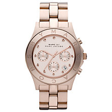 Buy Marc by Marc Jacobs MBM3102 Blade Women's Chronograph Bracelet Watch, Rose Gold Online at johnlewis.com