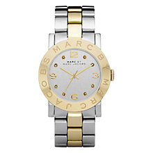 Buy Marc by Marc Jacobs Women's Amy Two-Tone Bracelet Watch Online at johnlewis.com