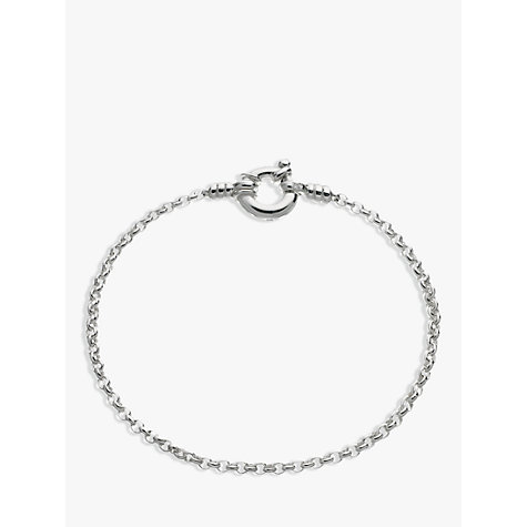 Buy Links of London Mini Belcher Charm Bracelet, Silver Online at johnlewis.com