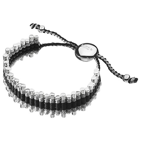 Buy Links of London Friendship Zig Zag Bracelet, Black / Grey Online at johnlewis.com