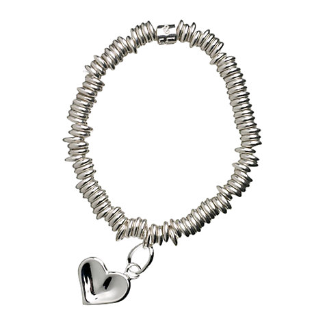 Buy Links of London Child's Heart Sweetie Charm Bracelet, Silver Online at johnlewis.com