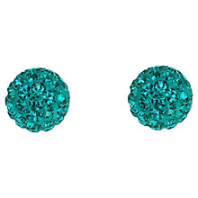 Buy Jou Jou Crystal Pavé Round Ball Stud Earrings Online at johnlewis.com