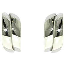 Buy Finesse Rhodium Wave Stud Earrings, Silver Online at johnlewis.com