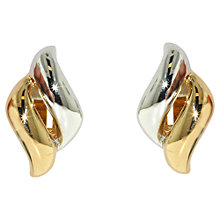 Buy Finesse Two-Tone Wave Shape Clip-On Earrings, Gold/Rhodium Online at johnlewis.com