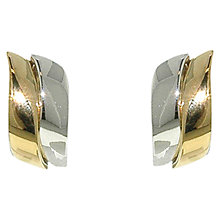 Buy Finesse Two-Tone Wave Clip-On Earrings, Gold/Silver Online at johnlewis.com