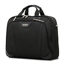 "Buy Wenger 17"" Single Compartment Briefcase Lite, Black Online at johnlewis.com"