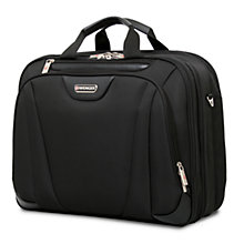 "Buy Wenger 17"" Triple Compartment Briefcase Lite, Black Online at johnlewis.com"