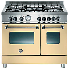 Buy Bertazzoni AD905MFECRE Dual Fuel Range Cooker, Cream Online at johnlewis.com