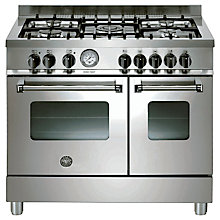 Buy Bertazzoni AD905MFEXE Dual Fuel Range Cooker, Stainless Steel Online at johnlewis.com