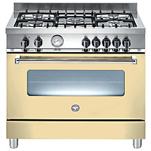 Buy Bertazzoni A905MFECRE Dual Fuel Range Cooker, Cream Online at johnlewis.com