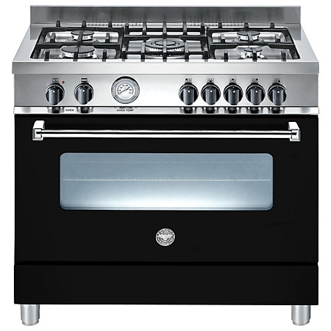 Buy Bertazzoni A905MFENEE Dual Fuel Range Cooker, Black Online at johnlewis.com