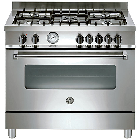 Buy Bertazzoni A905MFEXE Dual Fuel Range Cooker, Stainless Steel Online at johnlewis.com