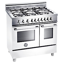 Buy Bertazzoni W906GEVBI Dual Fuel Range Cooker, White Online at johnlewis.com