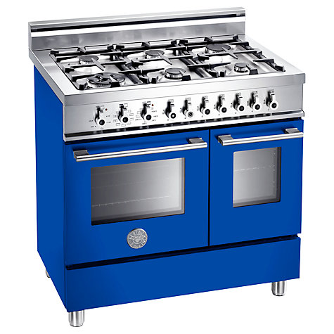 Buy Bertazzoni W906GEVBL Dual Fuel Range Cooker, Blue Online at johnlewis.com