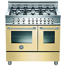 Buy Bertazzoni W906GEVCR Dual Fuel Range Cooker, Cream Online at johnlewis.com