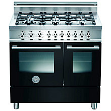 Buy Bertazzoni W906GEVNE Dual Fuel Range Cooker, Black Online at johnlewis.com