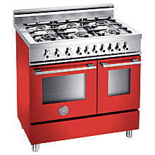 Buy Bertazzoni W906GEVRO Dual Fuel Range Cooker, Red Online at johnlewis.com