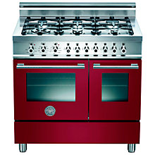 Buy Bertazzoni W906GEVVI Dual Fuel Range Cooker, Burgundy Online at johnlewis.com