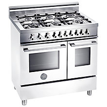 Buy Bertazzoni W906MFE Dual Fuel Range Cooker, White Online at johnlewis.com