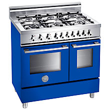 Buy Bertazzoni W906MFE Dual Fuel Range Cooker, Blue Online at johnlewis.com