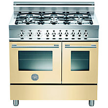 Buy Bertazzoni W906MFE Dual Fuel Range Cooker, Cream Online at johnlewis.com