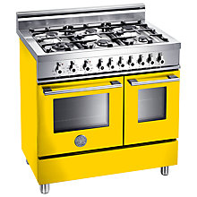 Buy Bertazzoni W906MFE Dual Fuel Range Cooker, Yellow Online at johnlewis.com