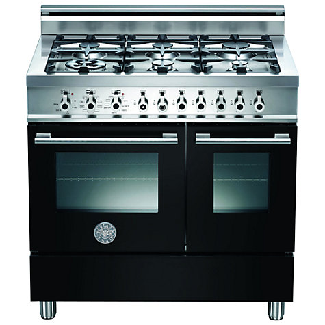 Buy Bertazzoni W906MFE Dual Fuel Range Cooker, Black Online at johnlewis.com